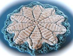 3 Vintage Crocheted Potholders ~~~ 2 bibs 1 snowflake by lookonmytreasures on Etsy