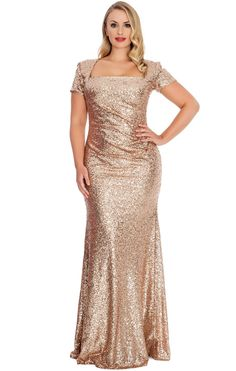 MACloth Women Halter Sequin Long Bridesmaid Dress Cowlback Evening Formal Gown (EU34, Gris)