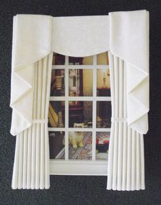 Miniature doll house swag and tail effect by minimaisonminiatures, $10.00