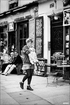 The Parisian Bookseller ~ Shakespeare & Co is a bookstore on paris's left bank, serving as a regular bookstore and as a reading library, specializing in English-language literature.  Some students work there...