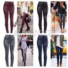 """Sexy Faux Leather high waist leggings New Vegan ❌PLEASE DON'T BUY THIS LISTING,COMMENT ON SIZE NEEDED FOR SEPARATE LISTING❌Sexy Vegan Faux leather leggings. Perfect fit  High waist Medium weight Lightly soft Fleece-lined Very Stretchy Fabric 65% Polyester,35% Cotton Measurements (Inseam = 27-28"""") (Total Length= 38-39"""") (Front Rise = 12"""") (Back Rise =14"""") (Small Waist =11-13"""") (Medium Waist =12-14"""") (LargeWaist =13-15"""") (XL Waist =14- 16 """" ) *Price is firm unless bundled. ALSO AVAILABLE IN…"""