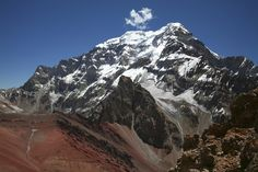 The south face of Aconcagua, the highest peak in South America, at 22,841 feet…