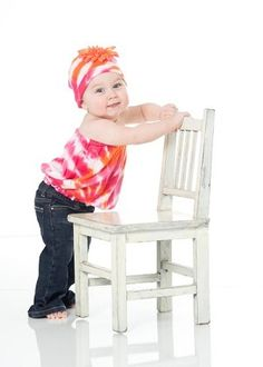 Orange Pink with Orange Daisy Pipette Set by Jamie Rae Hats  $46  available at www.royalbambino.com  #babyclothes, #babygifts