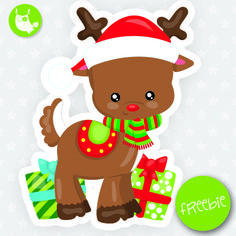 Reindeer Freebie, free clipart, freebie, commercial use, educational, free images, free