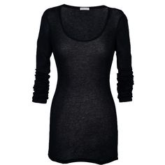 American Vintage | Black Massachusetts Long Sleeve Top by American Vintage ($50) found on Polyvore