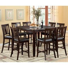 Ethan Espresso Finish Transitional Style 9-Piece Counter Height Dining Set For Sale https://portablekitchenislandsreview.info/ethan-espresso-finish-transitional-style-9-piece-counter-height-dining-set-for-sale/