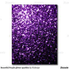 Beautiful Purple glitter sparkles Postcard by #PLdesign #PurpleSparkles #SparklesGift