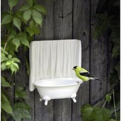 Bird Bathtub ~ so cute! - LOVE THIS IDEA!! - LOOKS AWESOME & OBVIOUSLY WORKS WELL!!