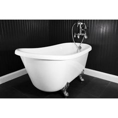 Spa Collection 54-inch Swedish Clawfoot Tub and Faucet Pack   Overstock™ Shopping - Great Deals on Soaking Tubs