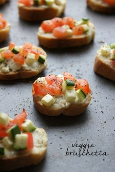 Easy Veggie Bruschetta-a simple appetizer or afternoon snack!