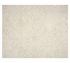 Farrah Rug - Ivory #potterybarn 9' x 12' Hand tufted 100% nylon. 100% cotton backing attached with synthetic latex adhesive.