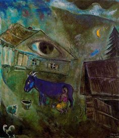 Chagall, Marc - The Green Eye - Ecole de Paris - Abstract - Oil on canvas
