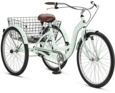 Schwinn Adult Tricycle 3 Wheel Bicycle Bike Three Wheeler Basket Beach Cruiser #Schwinn