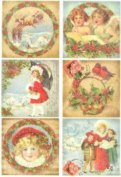 Ricepaper Decoupage Paper Scrapbooking Sheets Craft Paper Xmas Vintage Girls   eBay