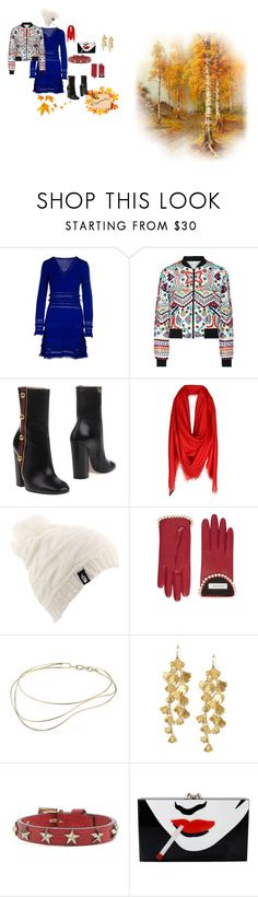 """""""knit dress for fall"""" by mkdetail ❤ liked on Polyvore featuring Roberto Cavalli, Alice + Olivia, Gucci, Versace, The North Face, Elsa Peretti, Tory Burch, RED Valentino and Charlotte Olympia"""