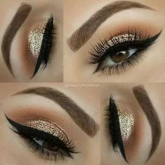Fresh Spring Face Makeup Looks For Pretty Lasses Bronze Gold Glittery Eye Shadow To Try For A Bold Look – Das schönste Make-up Makeup Goals, Makeup Inspo, Makeup Inspiration, Makeup Tips, Beauty Makeup, Makeup Ideas, Huda Beauty, Top Beauty, Beauty Nails