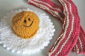 Egg and Bacon Knitted Play Food