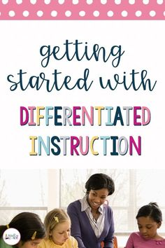 Understand why differentiation is important, but not sure where to start? Click through to learn how to get started with differentiated instruction! Differentiated Instruction Strategies, Differentiation Strategies, Differentiation In The Classroom, Teaching Strategies, Teaching Tips, Special Education Classroom, Physical Education, Gifted Education, Education System