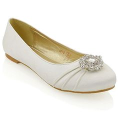 Essex Glam Womens Bridal Flats Ivory Satin Pumps Shoes 7 ... https://smile.amazon.com/dp/B01C49NYPW/ref=cm_sw_r_pi_dp_x_JG8hybPFGP6WD