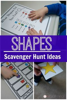 Gross motor activities with shapes! I love the scavenger hunt idea for identifying shapes. Great in an educational setting, therapy, or at home! Fine Motor Activities For Kids, Sensory Activities, Preschool Activities, Shape Activities, Geometry Activities, Sensory Play, Educational Activities, Physical Activities, Teaching Shapes