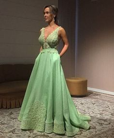 vestido de festa longo verde claro