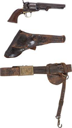 Cavalry Officer's Grouping  1851 Colt NavyRevolver, Holster, Sword Belt  to Captain Luman...