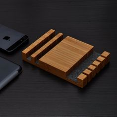 Charging Station/ Cable Organizer/ iPhone Dock/ by woodworksRD