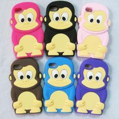 1 x Soft Silicon Monkey Back CASE COVER Skin FOR IPOD TOUCH 4 4G 4TH GEN