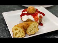 Papanasi (PRAJITI) cu branza de vaci😋 - YouTube Romanian Food, Romanian Recipes, French Toast, Good Food, Breakfast, Youtube, Club, Donut Holes, Donuts