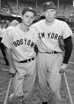 Dom Dimaggio and brother Joe Boston Sports, Boston Red Sox, Batting Average, Joe Dimaggio, Mickey Mantle, Sport Icon, Babe Ruth, American League, St Louis Cardinals