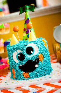 Monster Birthday Cakes, Little Monster Birthday, Monster 1st Birthdays, Monster Birthday Parties, First Birthday Cakes, 1st Boy Birthday, First Birthday Parties, First Birthdays, Birthday Ideas