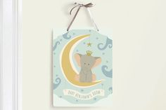 Over the Moon Room Decor Signs by Ana de Sousa at minted.com