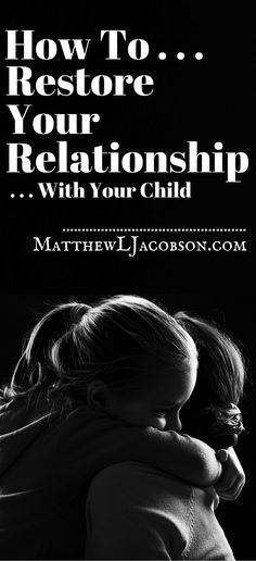 Just because we brought children into the world doesn't mean we get to have an open, loving relationship with them.  As in any relationship of depth and value, trust must be established with our children and continually cultivated as they mature through their teen and early adult years. But, we don't always do that, do we? Sometimes we sin against our kids through harsh words or actions. How do we get back into fellowship with our kids when we've wronged them?
