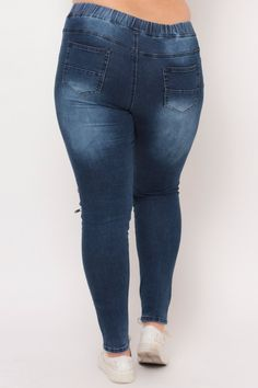 Plus Size Drawstring Distressed Moto Jean - Dark Wash Moto Jeans, Denim Jeans, Skinny Jeans, Plus Size Womens Clothing, Clothes For Women, Classy Girl, Plus Size Jeans, Denim Outfit, Trendy Plus Size