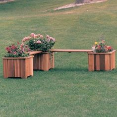 Wood Country Double 3-ft. Cedar Backless Planter Bench Item#: HN-WC022