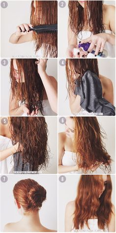 Tips for air drying hair.