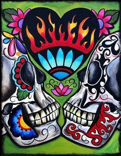 156 best Day of the Dead art images on Pinterest | Sugar skulls ...