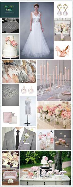 Blush + Grey wedding inspiration