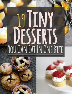 Tiny Desserts You Can Eat In One Bite 19 Tiny Desserts You Can Eat In One Bite -- all off these look awesome! Gotta try at least a Tiny Desserts You Can Eat In One Bite -- all off these look awesome! Mini Desserts, Bite Size Desserts, Just Desserts, Delicious Desserts, Yummy Food, Small Desserts, Mini Dessert Recipes, Awesome Desserts, Desert Recipes