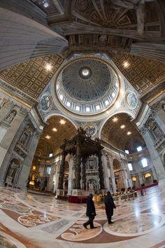 St Peter Basilica, Rome - 8mm Samyang fisheye lens.