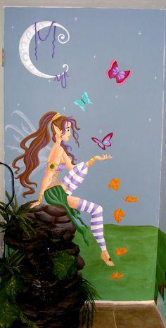 Fairy magic children's mural idea was created by S. Jeanette Davis, muralist of  www.DDFL.net