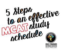 MCAT study schedule advice for those who want to get a high MCAT score. Good…
