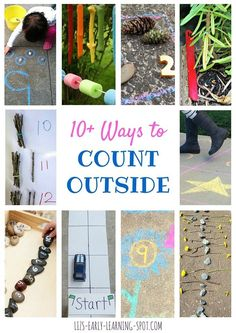 Need some inspiration to encourage your kids to count outside? Check out all these great ideas!