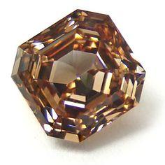 Emerald Cut Fancy Orange-Brown Diamond