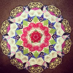 rosette for my La Passacaglia quilt (made by Kirsten Duncan)