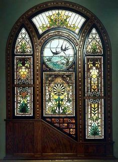 Leaded Glass, Stained Glass Art, Stained Glass Windows, Mosaic Glass, Glass Doors, Art Nouveau, Art Deco, Cool Doors, Unique Doors