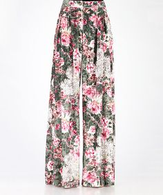 14c0dbea042 Loving this Green Floral Velvet Palazzo Pants on  zulily!  zulilyfinds  Palazzo Pants