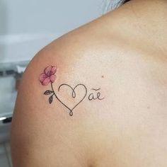 25 Trendy Tattoo Femininas Ombro Pequena - My list of best tattoo models Mom Tattoos, Wrist Tattoos, Cute Tattoos, Body Art Tattoos, Small Tattoos, Tattoos For Women, Tatoos, Tattoo Women, Awesome Tattoos