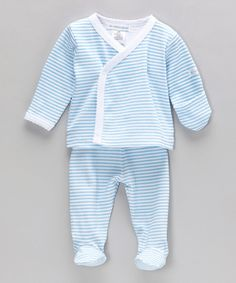 Ready, set, snuggle! This duo of darling is on board to coddle cuties in the dreamiest of wonderlands thanks to its soft cotton construction. Fold-over cuffs are perfect for preventing scratches, and the easy-on design ensures fuss-free dressing.Includes top and pants100% cottonMachine wash; tumble dry