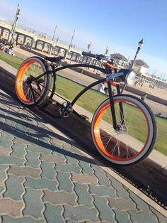 Bike Custom Beach Cruiser, Beach Cruiser Bikes, Cruiser Bicycle, Power Bike, Bike Parts, Bicycle Accessories, Bicycle Design, Rat Rods, Kustom